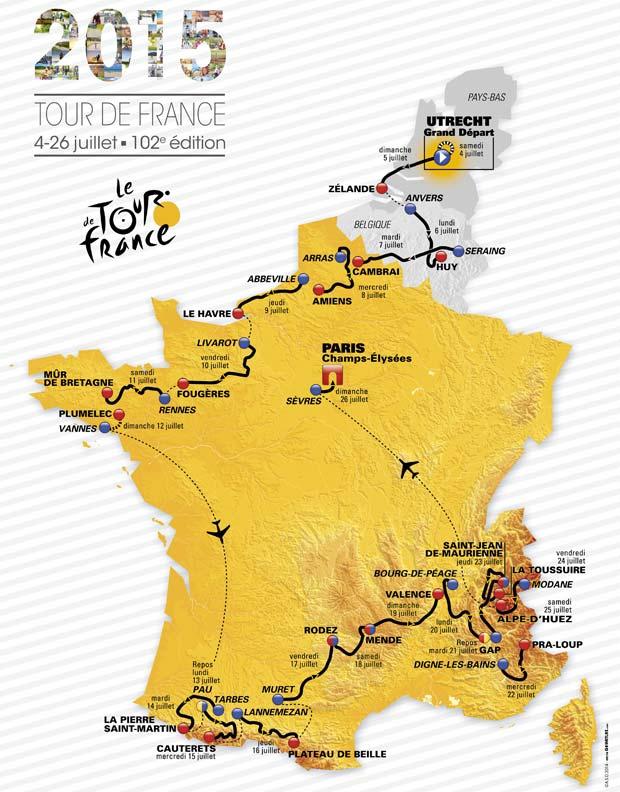 Tour de France 2015 Route