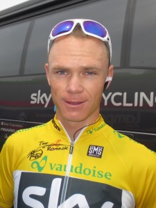 Chris Froome - in yellow after stage 3